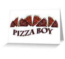 Pizza Boy Greeting Card