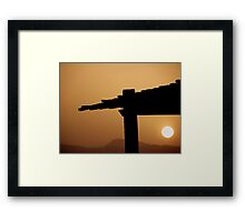 Red Sea Sunset, Jordan Framed Print