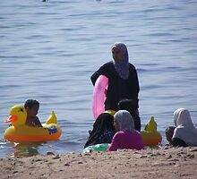 Muslim Women, Jordan Beach in Aqaba by Shannon Friel