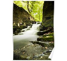 Derbyshire Waterfall Poster