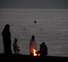 Bedouin Family - Aqaba beach Jordan by Shannon Friel