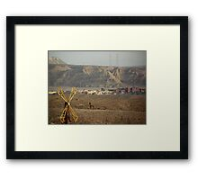 Jordan and Saudi Arabia Border  Framed Print