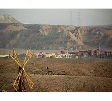 Jordan and Saudi Arabia Border  Photographic Print