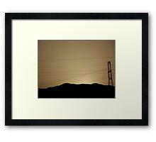 Desert Sunset Egypt Framed Print