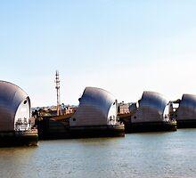 Thames Barrier - Closer by sampsd