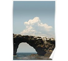 Zaka Fire and Anacapa Archway Poster