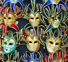 Venetian Opera Masks by GeorgeBuxbaum