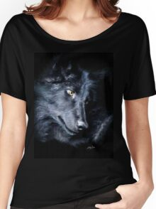 """The Look Back"" Timber Wolf Portrait Women's Relaxed Fit T-Shirt"