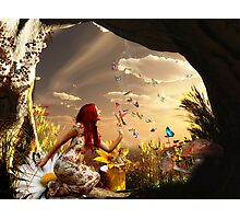 Endless summer butterfly dance Photographic Print