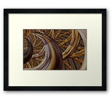 Harvest horn Framed Print