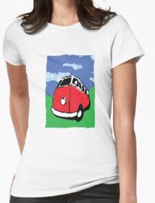 red vw van Womens Fitted T-Shirt