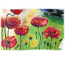 Poppies again Poster