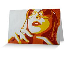Chic Lady with Shades Greeting Card