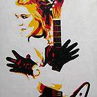 Rock Chick with Guitar by Sarah McDonald