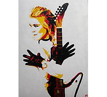 Rock Chick with Guitar Photographic Print