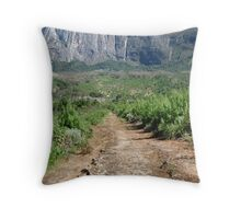 Path to a Cliff-face Throw Pillow