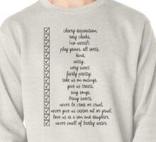 Nanny Checklist Pullover