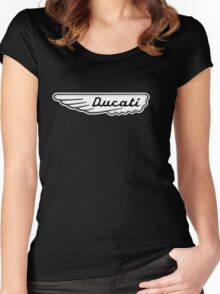 Ducati Wing Shirt Women's Fitted Scoop T-Shirt