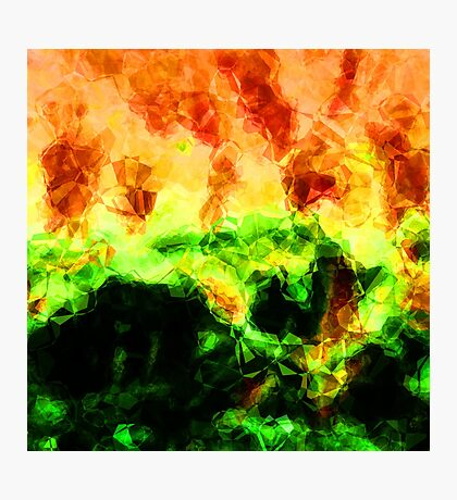 Fractured World On Fire Abstract  Photographic Print