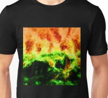 Fractured World On Fire Abstract  Unisex T-Shirt