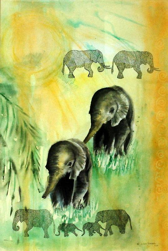 Elephant walk by Lynn Hughes