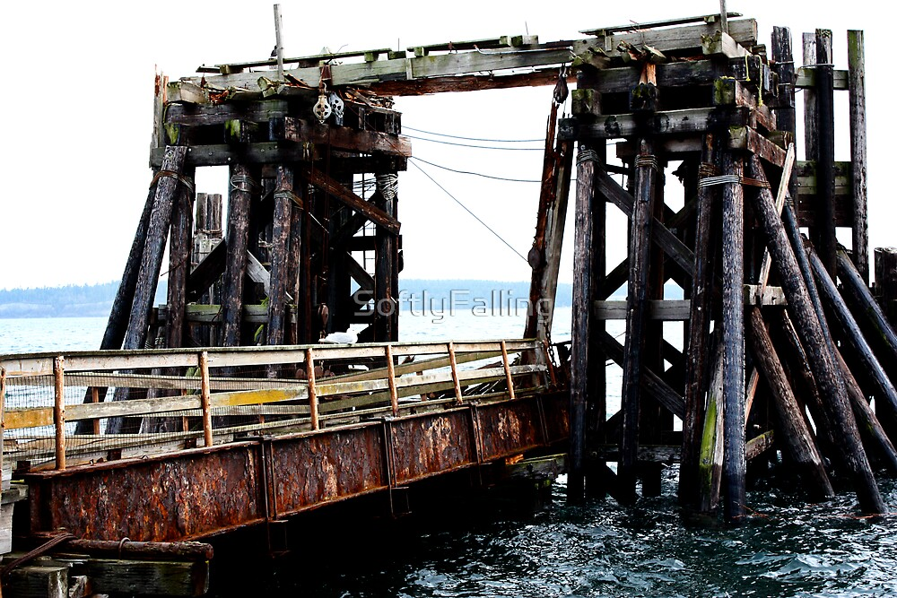 Aging Ferry Dock by SoftlyFalling