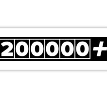 200000+ Miles JDM High Mileage Black Sticker