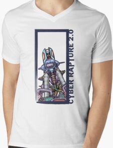 Cyber-Rapture 2.0 Mens V-Neck T-Shirt
