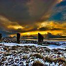 Sunset over Ring of Brodgar by Fraser Ross