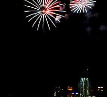 Fireworks over Cincinnati by Tom Aguero