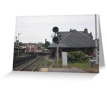 Train Traffic Signal Greeting Card