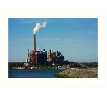 Power Plant Art Print
