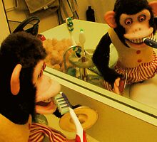 Musical Jolly Chimp Brushes His Teeth by Margaret Bryant