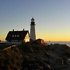 Portland Head Light at Sunrise by quiltmaker