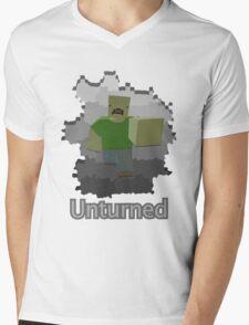 Unturned Graphic Mens V-Neck T-Shirt