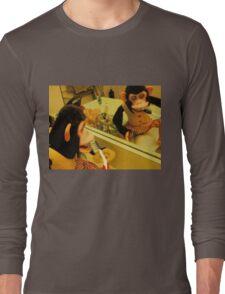 Musical Jolly Chimp Brushes His Teeth Long Sleeve T-Shirt