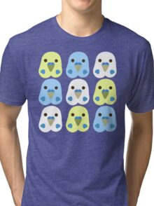 Budgie Heads Tri-blend T-Shirt