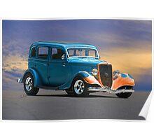 1934 Ford Victoria 'Ol Blu' Poster