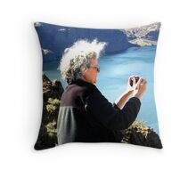 Mom at Vantage Throw Pillow