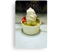 Frozen Yogurt - cute dessert shop Canvas Print