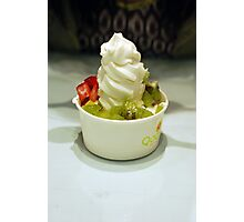 Frozen Yogurt - cute dessert shop Photographic Print