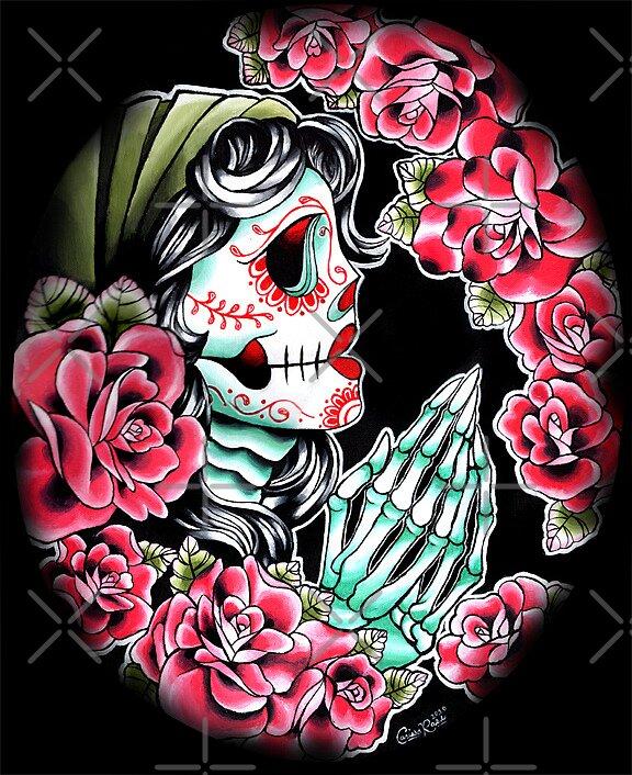Dia De Los Muertos Painting by MissCarissaRose