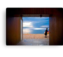 Cedar Frame - Waskesiu Canvas Print