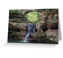 Hocking Hills Ohio, Water Fall Greeting Card