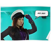 Sailor woman - aye aye captain Poster