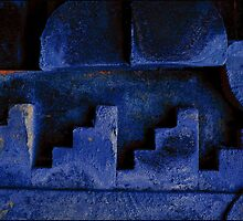 Blue Urban Abstract-704  by Albert Sulzer