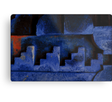 Blue Urban Abstract-704  Metal Print
