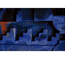 Blue Urban Abstract-704  Photographic Print