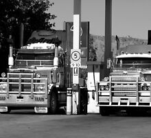 Road Train Truckers by Sarah Howarth [ Photography ]