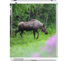 Summer Moose and Wildflowers iPad Case/Skin